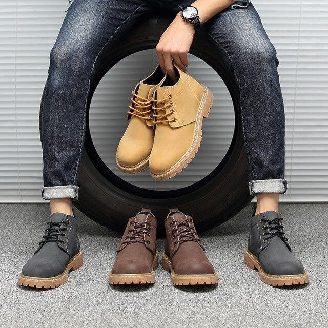 Erkek botları kış hakiki deri tasarımcı marka sıcak satış rahat erkek botları # MXZ8309134