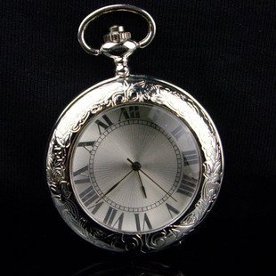 Magnifier mechanical pocket watches Free shipping wholesale 2017 New vintage antique silver roma necklace mens womens steampunk