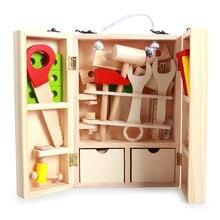 43 шт/компл деревянные игрушечные инструменты многофункциональный