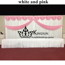 White and Pink Wedding Backdrop Wedding DecorationWedding Curtain For Wedding Free Shipping Best Quality