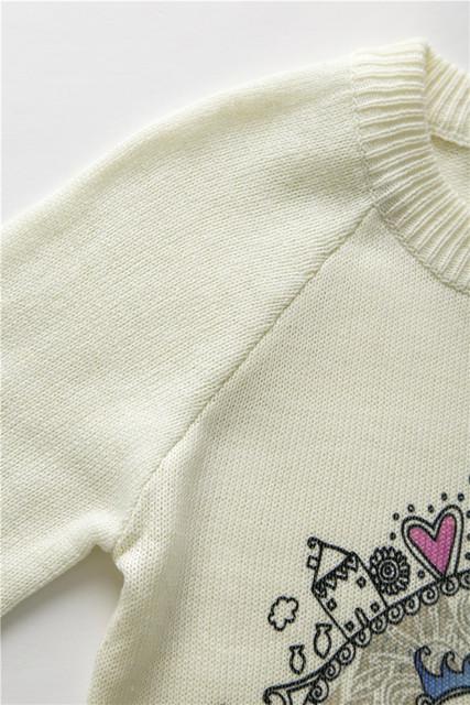 Women Sweater Warm O-Neck Owl Print