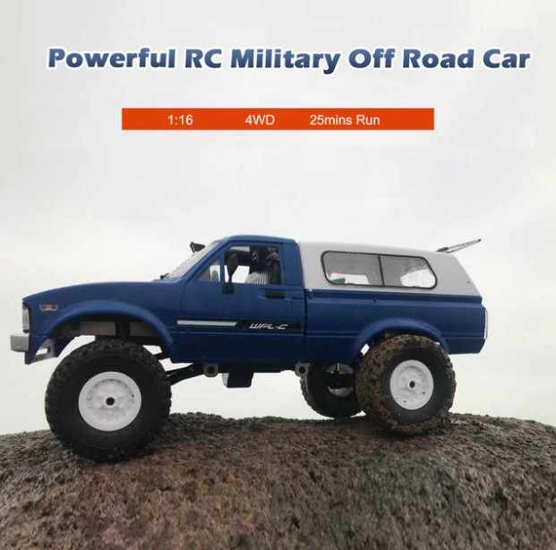 Upgrade WPL C24 RC Auto 1:16 4WD Radio Control Off-Road Mini Auto RTR Rock Crawler Elektrische Buggy Moving machine Kids Play RC Cars