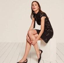2018 Fashion Summer Women Dress Vintage A-line Print Short Sleeve Mini Dress Empire O-neck Solid Black Vestidos