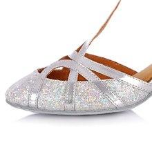Kulla Glitter Shining Latin Dancing Shoes For Women High Heels Ballroom Tango Dancing Salsa Shoes Adult Soft Outsole Chaussure
