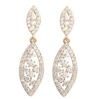 Glamorous White Stone 2 2mm Semi Precious Cool For Womens Stud Earrings ED0232