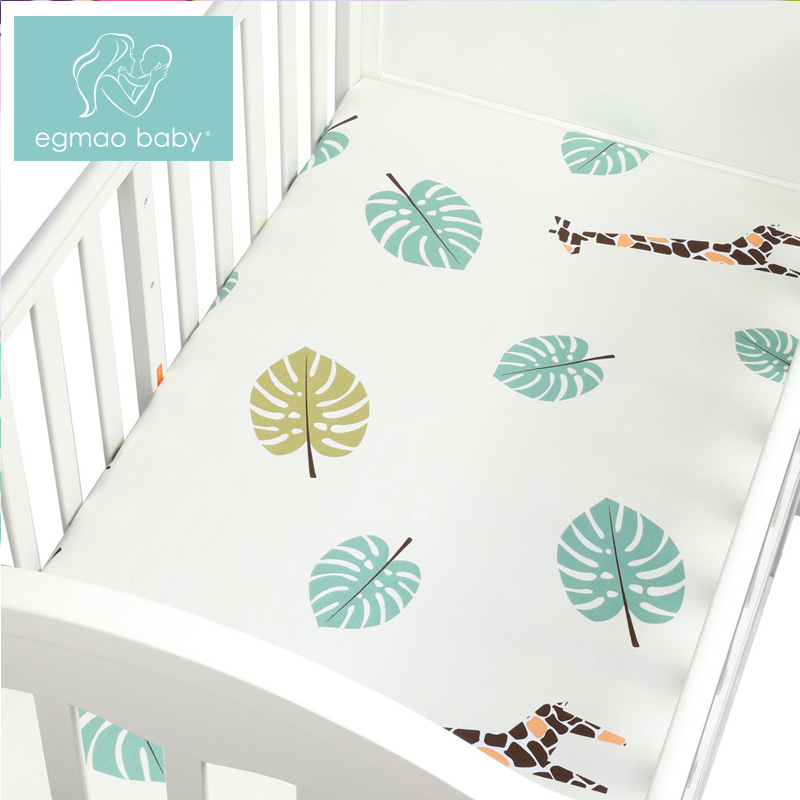 Newborn baby crib fitted sheets Cartoon soft crib bed sheet cotton kids bedding mattress protectors covers baby bedsheet 130*70 Детская кроватка