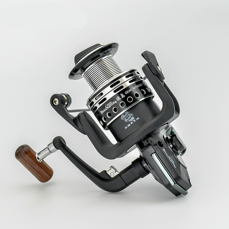 Good Performance Spinning Wheel Metal Wire Cup Pre-loading Fishing Reel for Rock/lure Rod Trolling Wheel 12+1 BB Distant Wheel high quality spinning fishing reel 14 bearings distant wheel high gear ratio superbig line capacity trolling wheel fishing tool