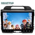 Navitop android 6.0 car dvd player gps para kia Sportage 2010 2011 2012 2013 2014 2015 in dash 2 din car stereo navegação gps
