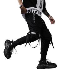 2020 new spring hip hop pants club singer stage costume trousers Ribbons streetwear joggers sweatpants ABZ256 cheap MISNIKI Pencil Pants Flat COTTON REGULAR Full Length Punk Style Midweight Broadcloth Elastic Waist as photoes M L XL XXL 3XL