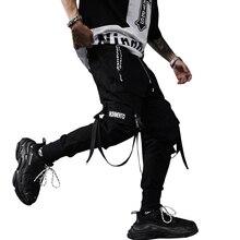 Pantalones de estilo hip hop para Primavera, traje de cantante, ropa de calle con cintas, pantalones de chándal para correr, ABZ256, novedad de 2020