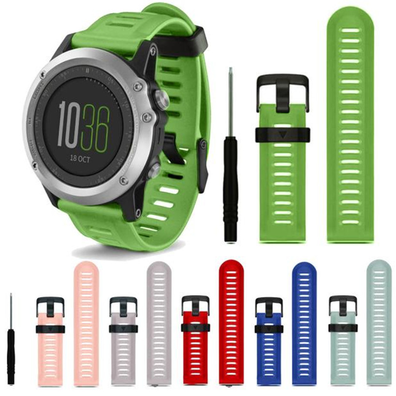 Fabulous watch band Soft Silicone Strap Replacement Watch Band With Tools For Garmin Fenix 3 wholesale drop shipping eache silicone watch band strap replacement watch band can fit for swatch 17mm 19mm men women