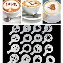 16 шт. кофе латте капучино бариста арт трафареты торт Duster шаблоны кофе инструменты аксессуары