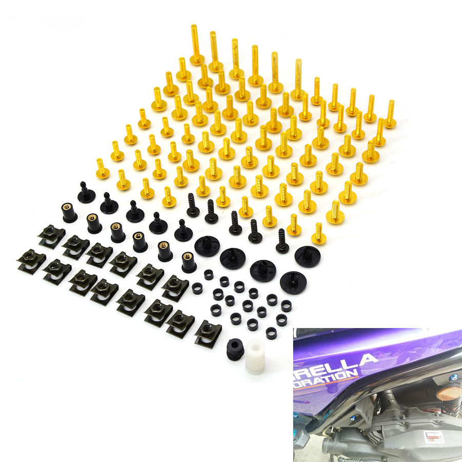 Motorcycle accessories Fairing Bolt Screw Fastener Fixation for yamaha mt 07 mt09 harley 883 triumph car covers pit bike gsxr tm areyourshop windshield bag saddle 3 pouch pocket fairing for harley touring bike 1996 2015 black motorcycle covers