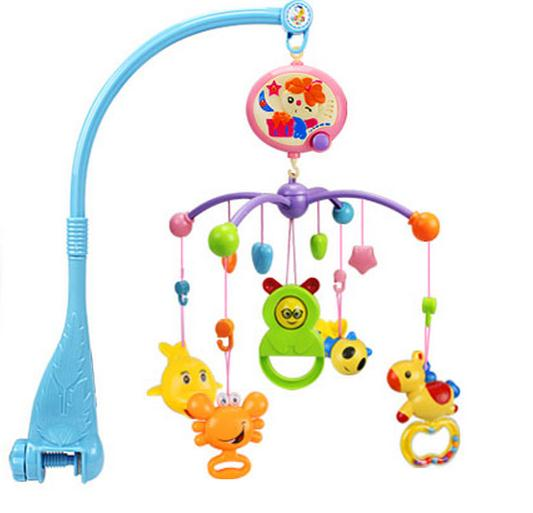On Sale Newborn Baby Toys Mobile Baby Rattle Baby Crib Spin Mobile