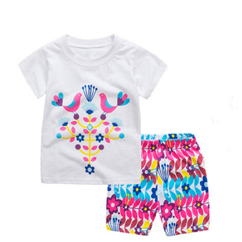 Summer Girls casual Suit Fashion jumping baby Girls Clothes Sets For Children Clothing Sets girl Kids Clothes 2 3 4 5 6 7 new fashion girls clothing kids clothes summer style sleeveless tops pants 2 pcs casual children suit 3 4 5 6 7 years