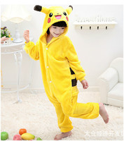 Pokemon Pikachu Cosplay Jumpsuit Costume For Children Kids Onesie Clothing For Halloween Carnival