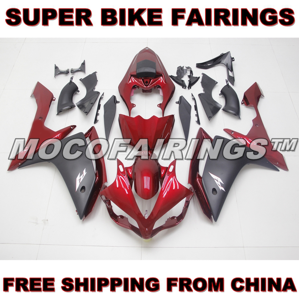 YZF R1 2007 2008 ABS Fairing Kits For Yamaha YZF-R1 07 08 Injection Plastic Mold RED AND MATTE BLACK mouse component plastic injection mold cnc machining household appliance mold ome mold