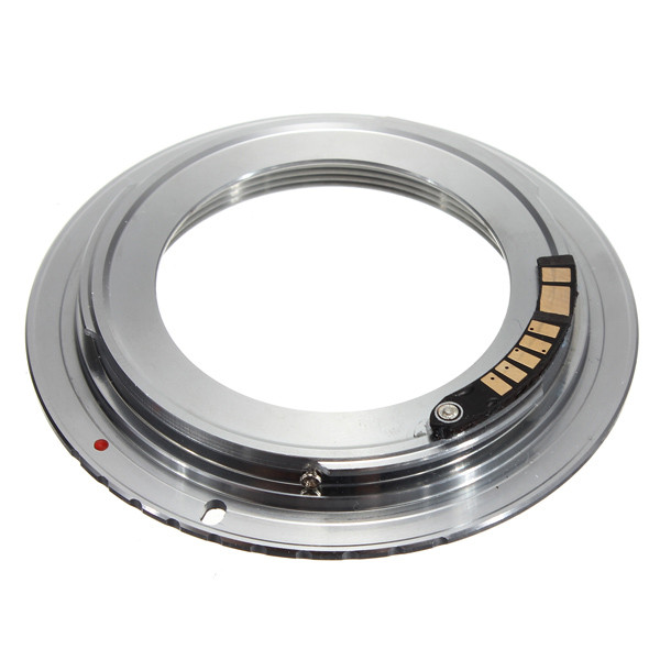 1Pcs AF Confirm Chip Brass M42 Lens to for Canon EOS Mount Adapter 60D 50D 40D 600D 550D 500D Silver цена