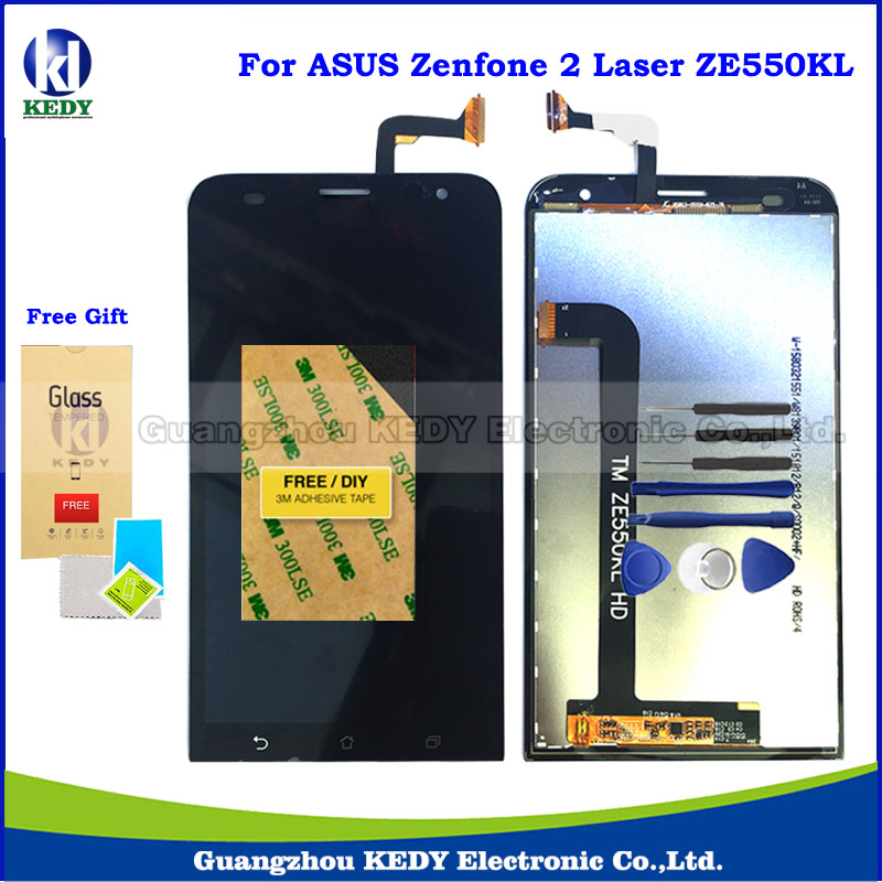 Original LCD Touch Spare Parts For Asus ZenFone 2 Laser ZE550KL Z00LD LCD Display Screen Digitizer