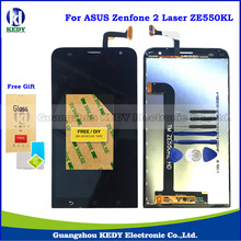 Original LCD Touch Spare Parts For Asus ZenFone 2 Laser ZE550KL Z00LD LCD Display Screen Digitizer Assembly + Tools + Gift
