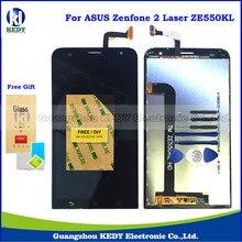 Оригинальный Сенсорный ЖК-Запасные Части Для Asus ZenFone 2 Laser ZE550KL Z00LD ЖК-Экран Digitizer Ассамблеи + Инструменты + подарок