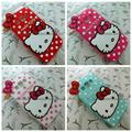 Luxury 3d cute cartoon hello kitty soft silicone shockproof mobile phone back cover skin for samsung galaxy A3 A5 A7