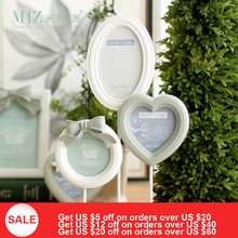 Free Shipping Miz Home Cinderalla SeriesWhite Photo Frame 1 Set 3 Piece 41.5*28cm Resin Wooden Handmade Bow-knot Picture Frame(China)