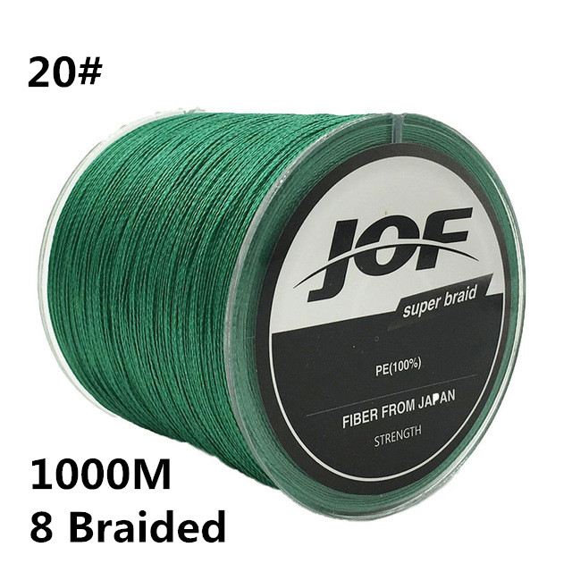 20# 1000m 8 Braided 100% PE Fishing Line 0.9MM 200LBS 90KG Super Strong 8 Strands Rope Cord Wire Multifilament Fishing wire #B2 pro beros 300m pe multifilament braided fishing line super strong fishing line rope 4 strands carp fishing rope cord 6lb 80lb