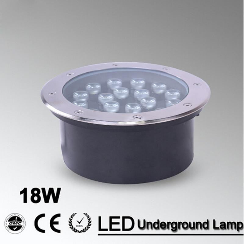 18W LED underground lamp LED Llight Outdoor Buried lamp IP65 12V/24V OR AC85~265V garden light ground 12v drop price lampada le garden light ac85 256v ground light outdoor deck leds 6w underground light 1pcs