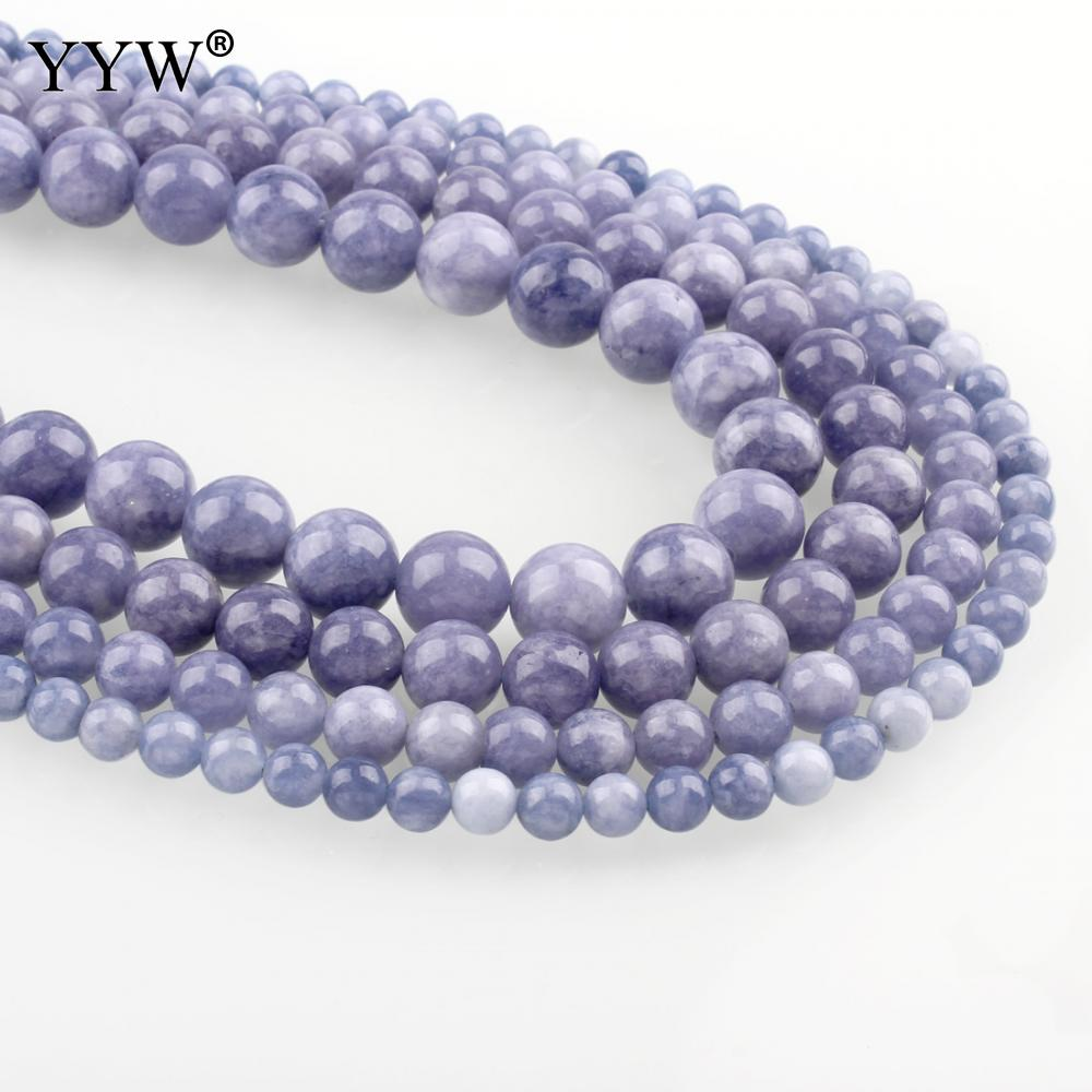 Natural Stone Aquamarines Beads Round February Birthstone Loose Beads 4mm 6mm 8mm 10mm 12mm DIY Necklace Bracelet Jewelry Making ...