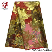 Milylace Jacquard Soft Silk Lace Fabric 5 Yards Real Chiffon Lace Fabric High Quality French Lace