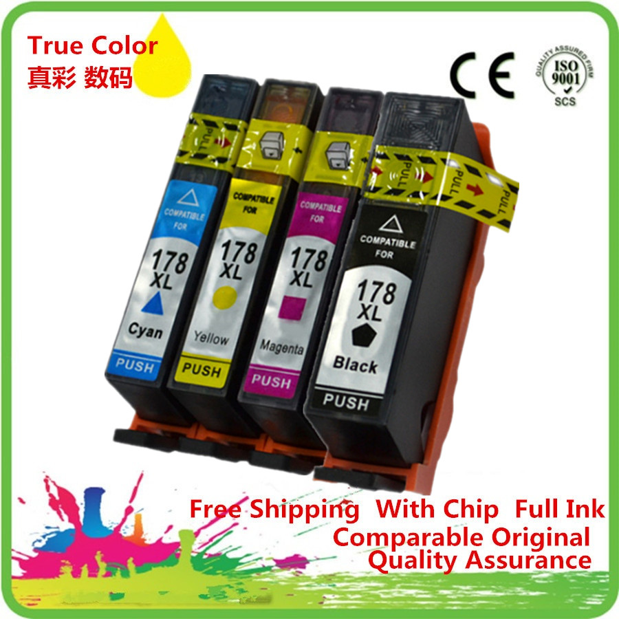 Replacement 178 XL 178XL Ink Cartridges Cartridge Replace For <font><b>HP178XL</b></font> HP178 Deskjet 3070A 3520 Officejet 4620 image