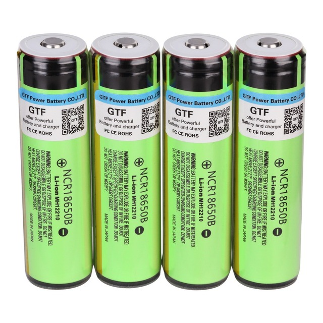100% Original NCR18650B 3.7V 18650 Battery 3400mAh Rechargeable Battery Li-ion Batteries for Flashlight Torch Drop shipping Cell