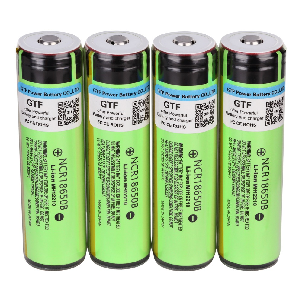 100% Original <font><b>NCR18650B</b></font> 3.7V <font><b>18650</b></font> Battery 3400mAh Rechargeable Battery Li-ion Batteries for Flashlight Torch Drop shipping Cell image