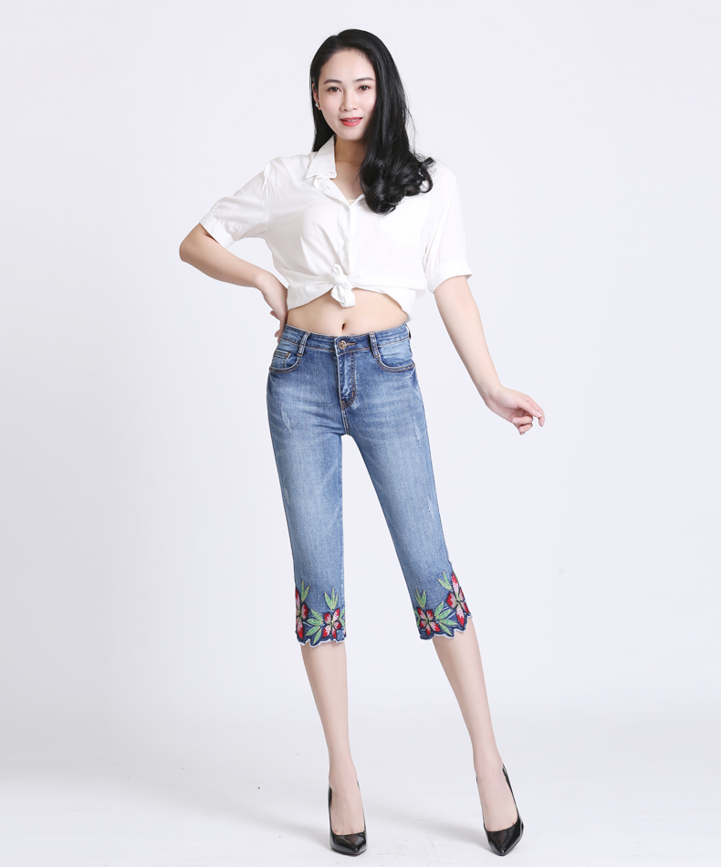 KSTUN Women Fashion 2018  Summer Jeans High waist Pants Women Capri stretch pencil Stretch Skinny pantalon femme mujer plus size 12
