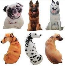 CAMMITEVER 50 سنتيمتر لطيف محاكاة الكلب ألعاب من نسيج مخملي ثلاثية الأبعاد الطباعة محشوة الحيوان الكلب ديكور المنزل الكرتون أريكة اللعب وسادة نوم أفخم