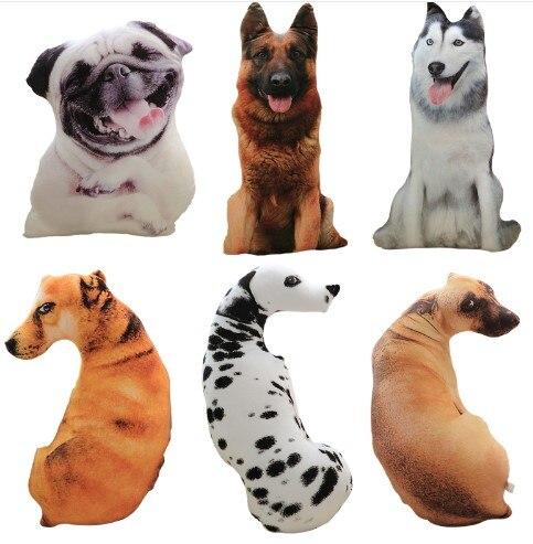 CAMMITEVER 50cm Cute Simulation Dog Plush Toy 3D Printing Stuffed Animal Dog Home Decor Cartoon Sofa Toys Sleeping Pillow Plush
