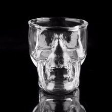Стеклянная кружка с черепом, кружка для вина, стеклянная кружка для пива, Хрустальная чашка для виски, водки, чая, кофе, 80 мл, Подарочная бутылка для воды