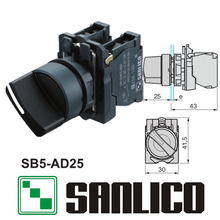 waterproof rotary push switch selector switch two or three-position standard handle SB5(LA68S XB5)-AD25