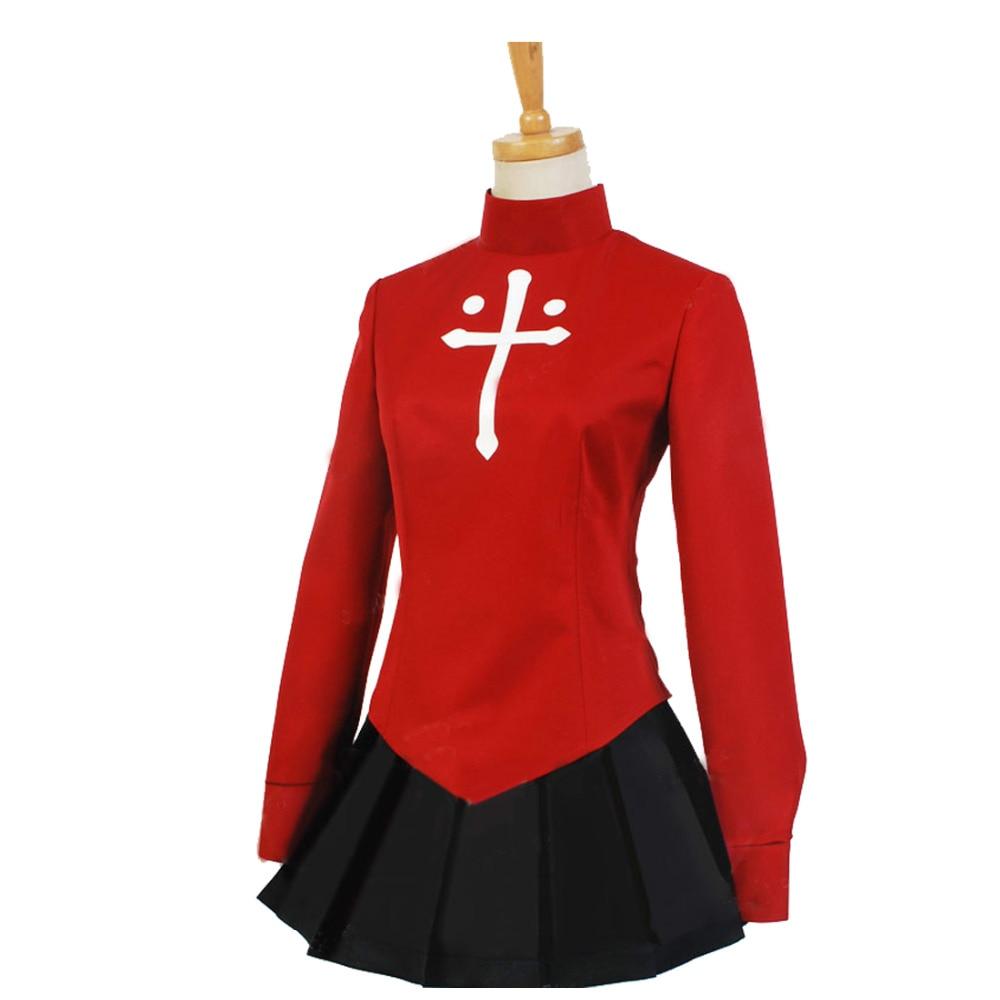 2018 öde stannar natt öde noll tohsaka rin cosplay röda kvinnors - Maskeradkläder och utklädnad