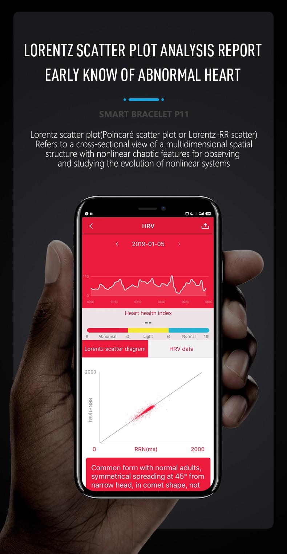 HTB1W6KbegaH3KVjSZFjq6AFWpXae 2019 Newest smartband P11 ECG Smart band watch Heart Rate Monitor PPG Smart Bracelet Blood Pressure Waterproof Wristband