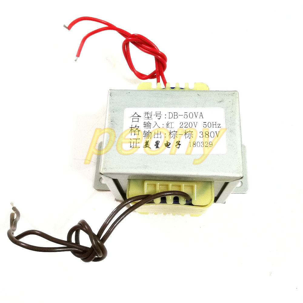 Transformer 50w 220v To 380v Boost Single Phase Ac Electrical Wiring 220 L In Transformers From Home Improvement On Alibaba