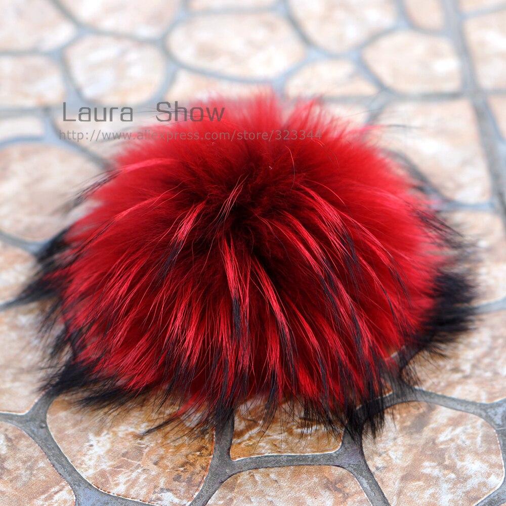 LAURASHOW 16 17 cm Multicolore Reale Procione Visone Palla di pelo di Volpe  20 Colorato pelliccia di Inverno Pom Poms Per Shoe Bag Cappello di Pelliccia  Cap ... ceaa7b5189bf