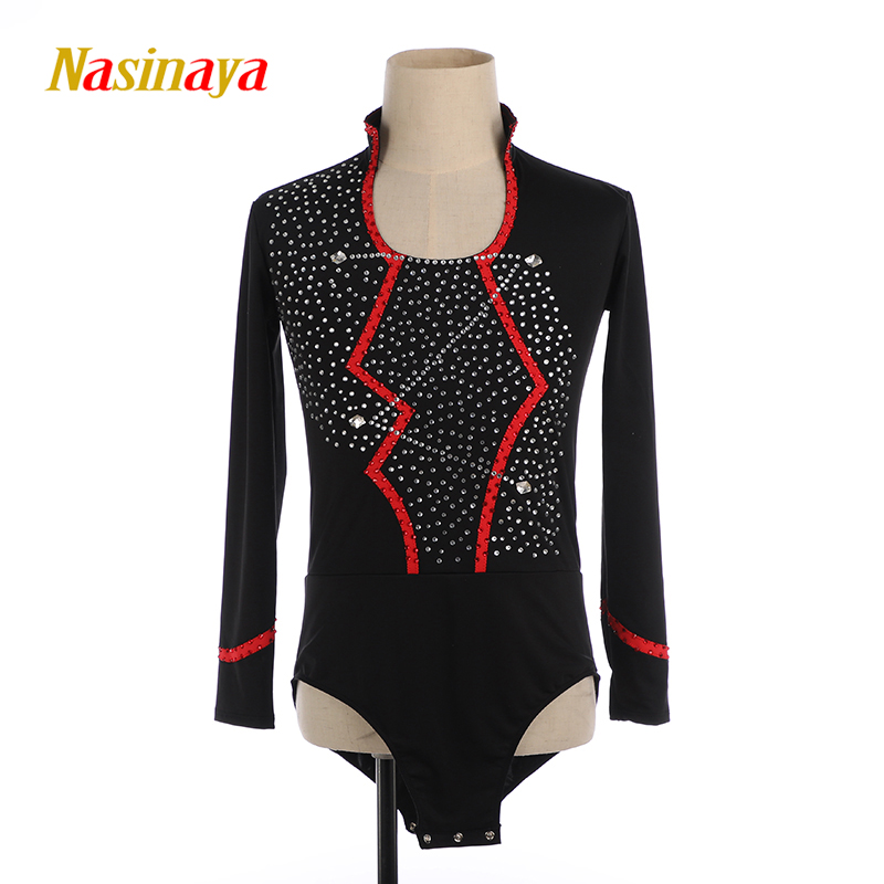 Nasinaya Boys Man Figure Skating Performance Clothing Customized Competition Ice Skating Leotard <font><b>Kids</b></font> Patinaje <font><b>Gymnastics</b></font> Dance1 image