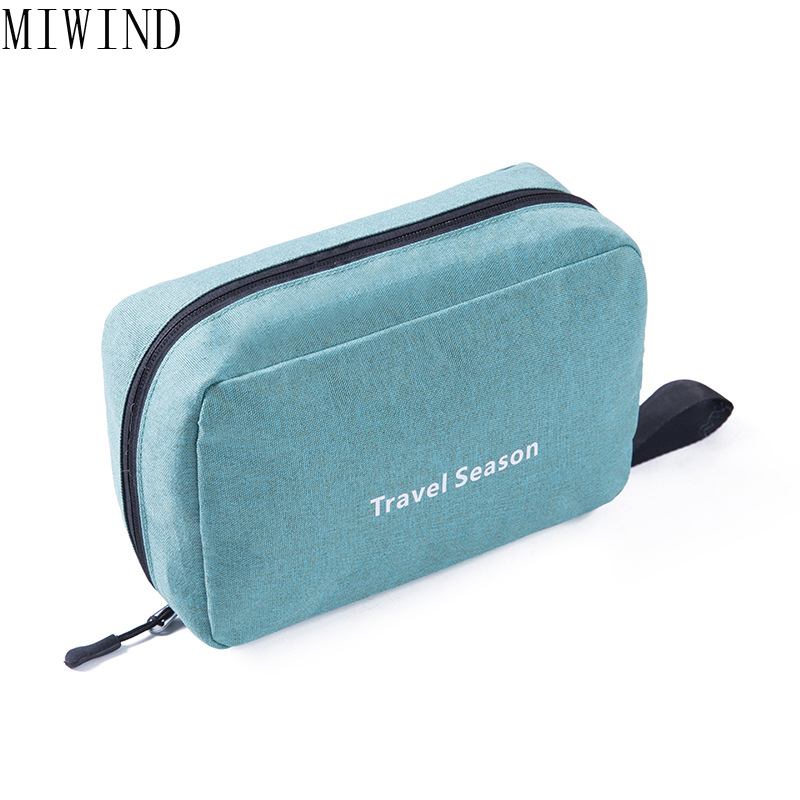 MIWIND Women High quality Waterproof Make Up Bags Cosmetic Bag Organizer Case Makeup Wash Toiletry Bag TYN842 ttou fashion barrel shaped cosmetic bag trip beauty women travel toiletry kit make up makeup case bag wash bags organizer