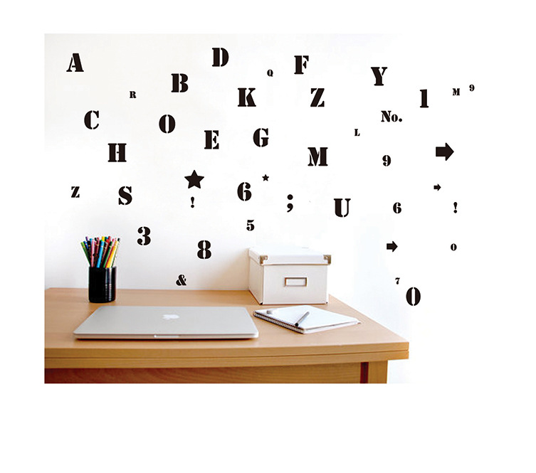 Removabe 3d Alphabet Wall Stickers For Kids Rooms Adhesive DIY Nursery Wall  Decals Wall Pictures For Childrenu0027s Room In Wall Stickers From Home U0026  Garden On ...
