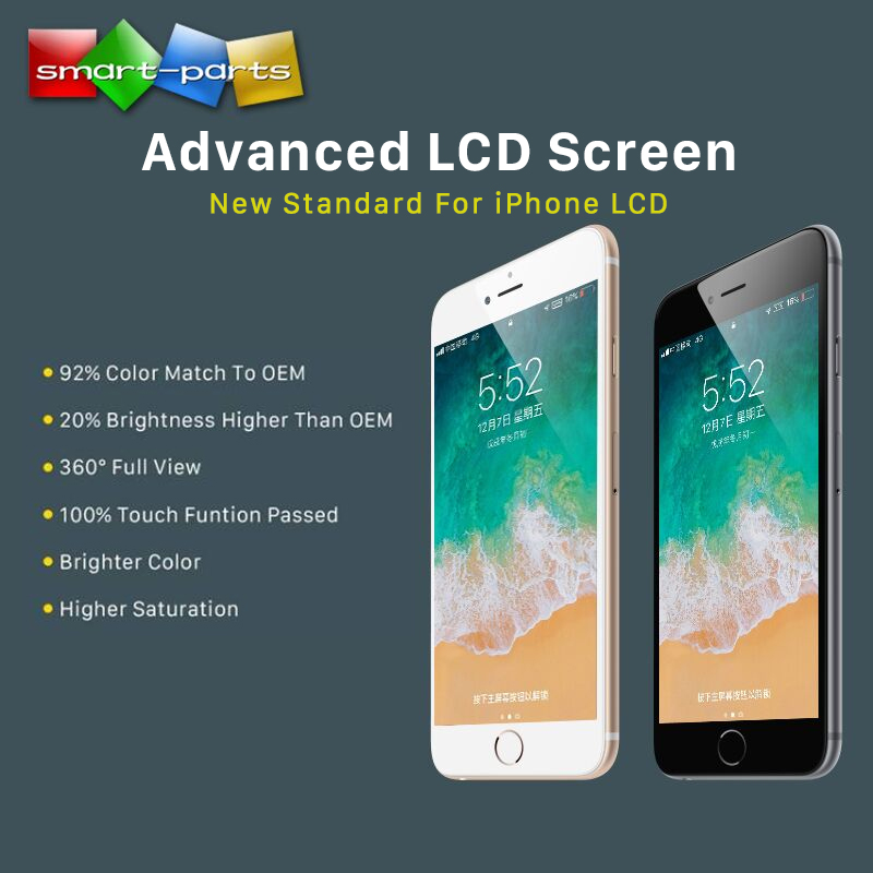 New Arrival Extra Bright Advanced LCD For Iphone 6s 7 8 Plus LCD Display Touch Screen Digitizer Assembly With Full View Angle
