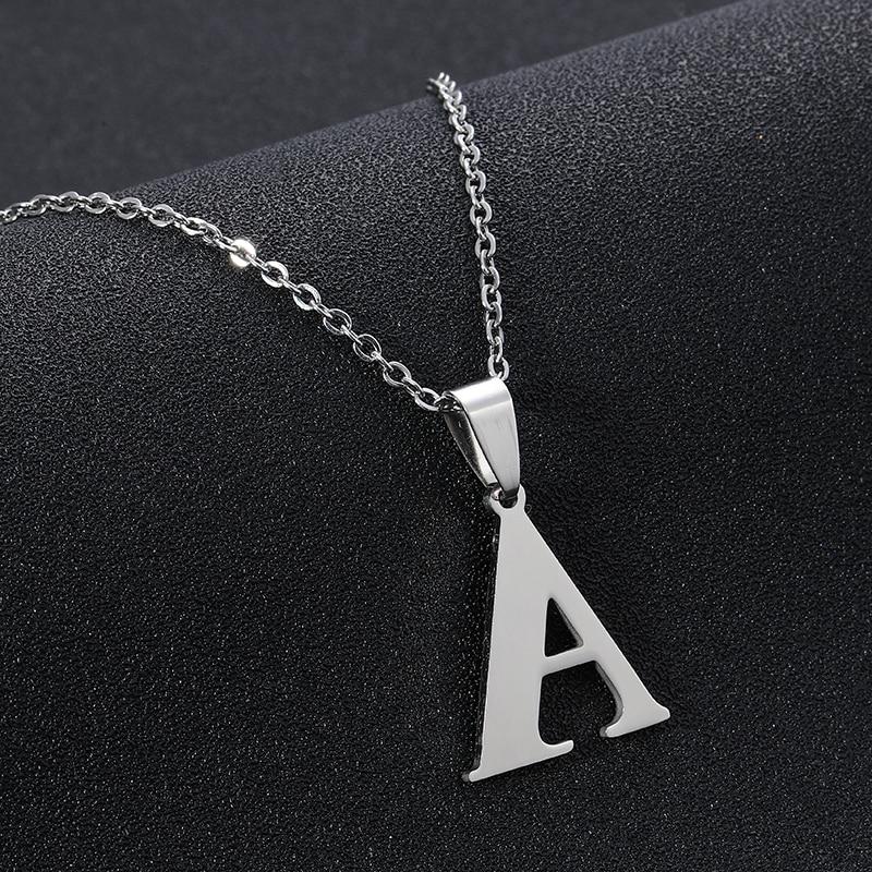 Aufrichtig Trendy A-z Kleine Buchstaben Halskette Für Frauen/mädchen Edelstahl Ersten Anhänger Dünne Kette Englisch Brief Schmuck Alfabet Geschenk 100% Original