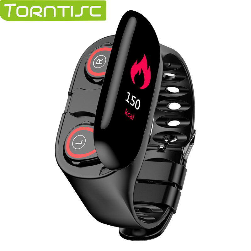 Torntisc Newest AI Smart Watch With Bluetooth Headphone Heart Rate Monitor Smart Wristband Long Time Standby