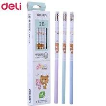 72 adet kawaii ahşap kalemler 2B HB sevimli rilakkuma kalem silgi ile yüksek kaliteli kalem okul çocuklar için yazma kırtasiye hediye